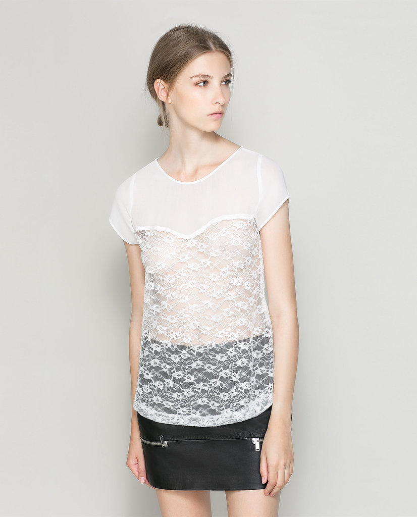 Zara Combination Lace Top ($30, originally $40)