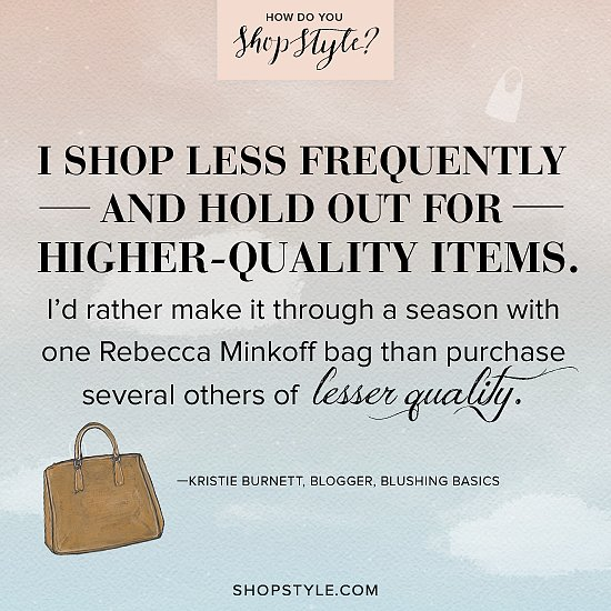 Kristie Burnett, blogger, Blushing Basics Play the ShopStyle game for a chance to win one of three designer bags.