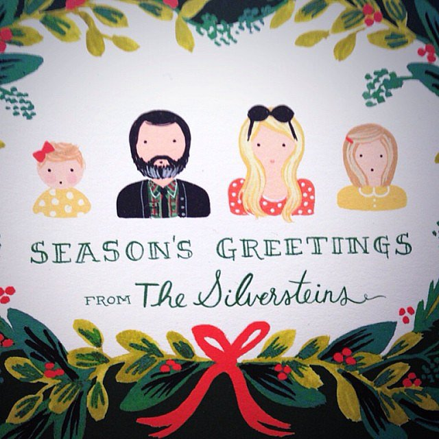 Busy Philipps shared the Silversteins' family holiday card. Source: Instagram user busyphilipps