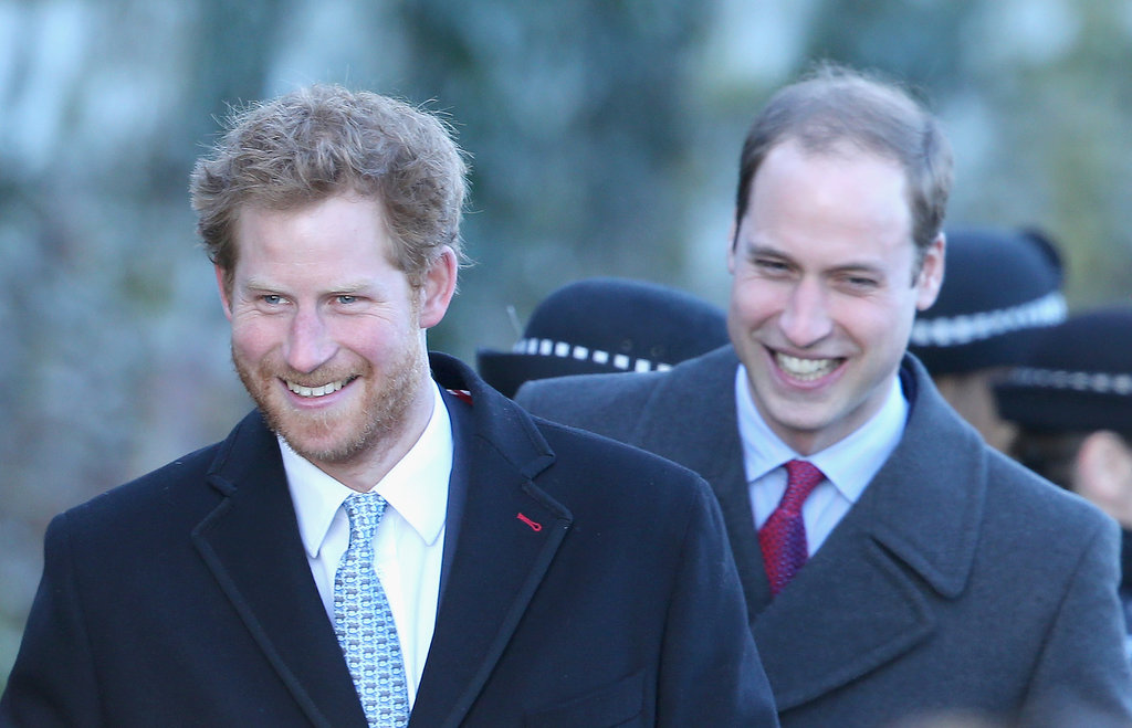 Prince William and Prince Harry were all smiles on Christmas Day.