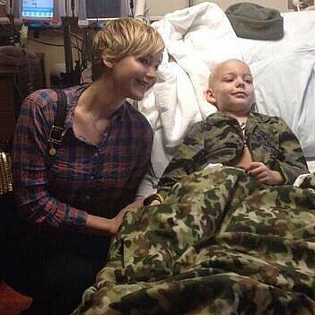 Jennifer Lawrence Visiting Children's Hospital in Kentucky