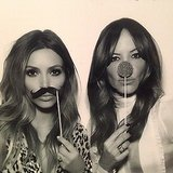 Who knew Kim Kardashian could rock a mustache? Source: Instagram user kimkardashian
