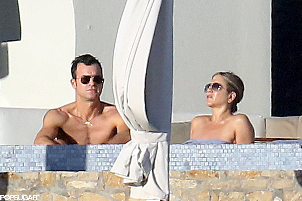 Justin and Jennifer sunbathed together.