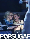 Jamie Lynn Spears and Miley Cyrus had wide smiles while they watched the show together.