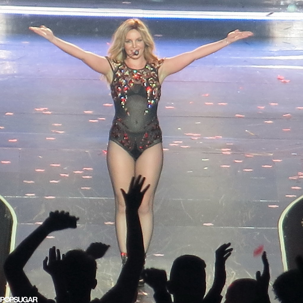 Britney Spears beamed while soaking in the applause.