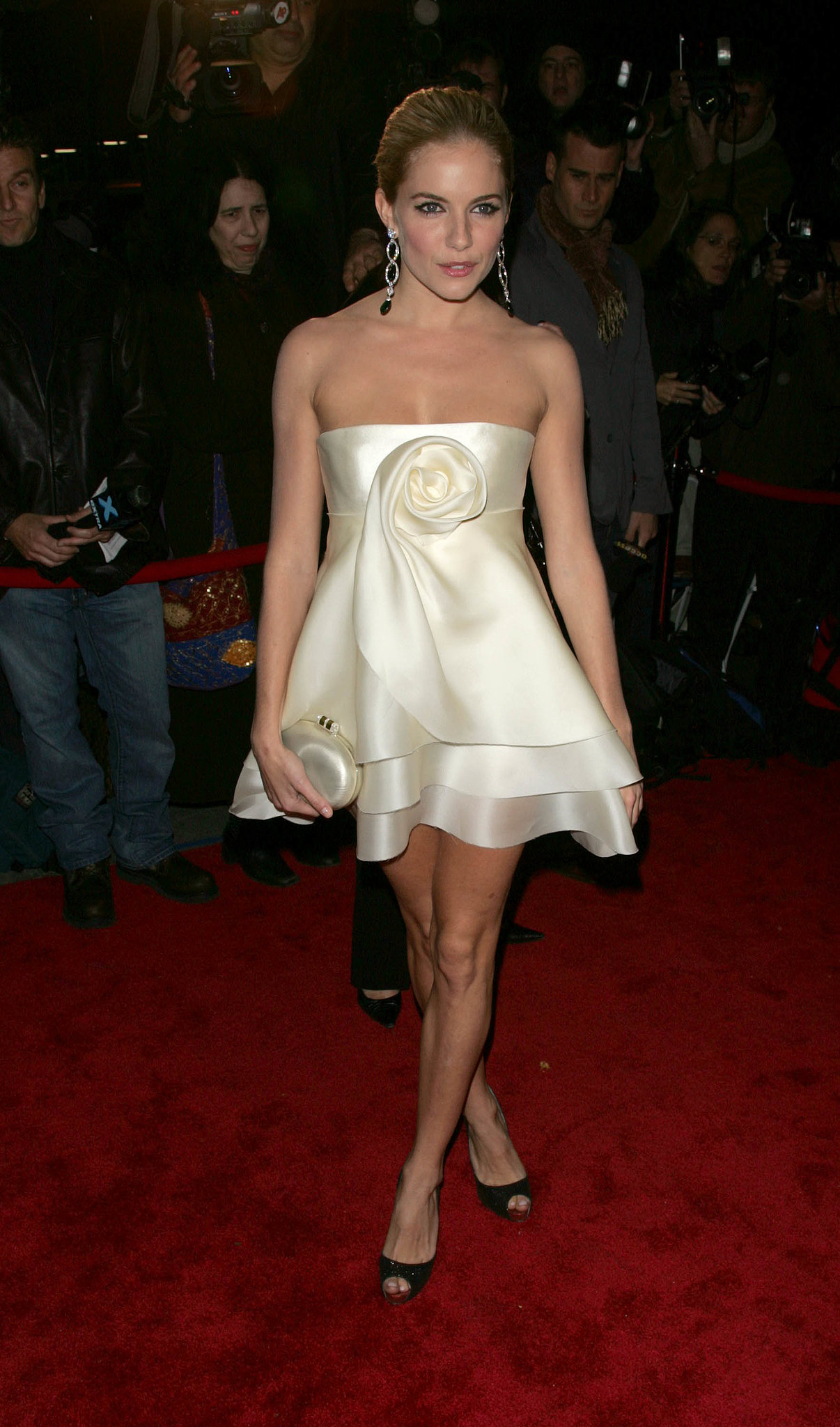 Sienna wore a femme little frock for Marchesa's anniversary dinner in 2006.