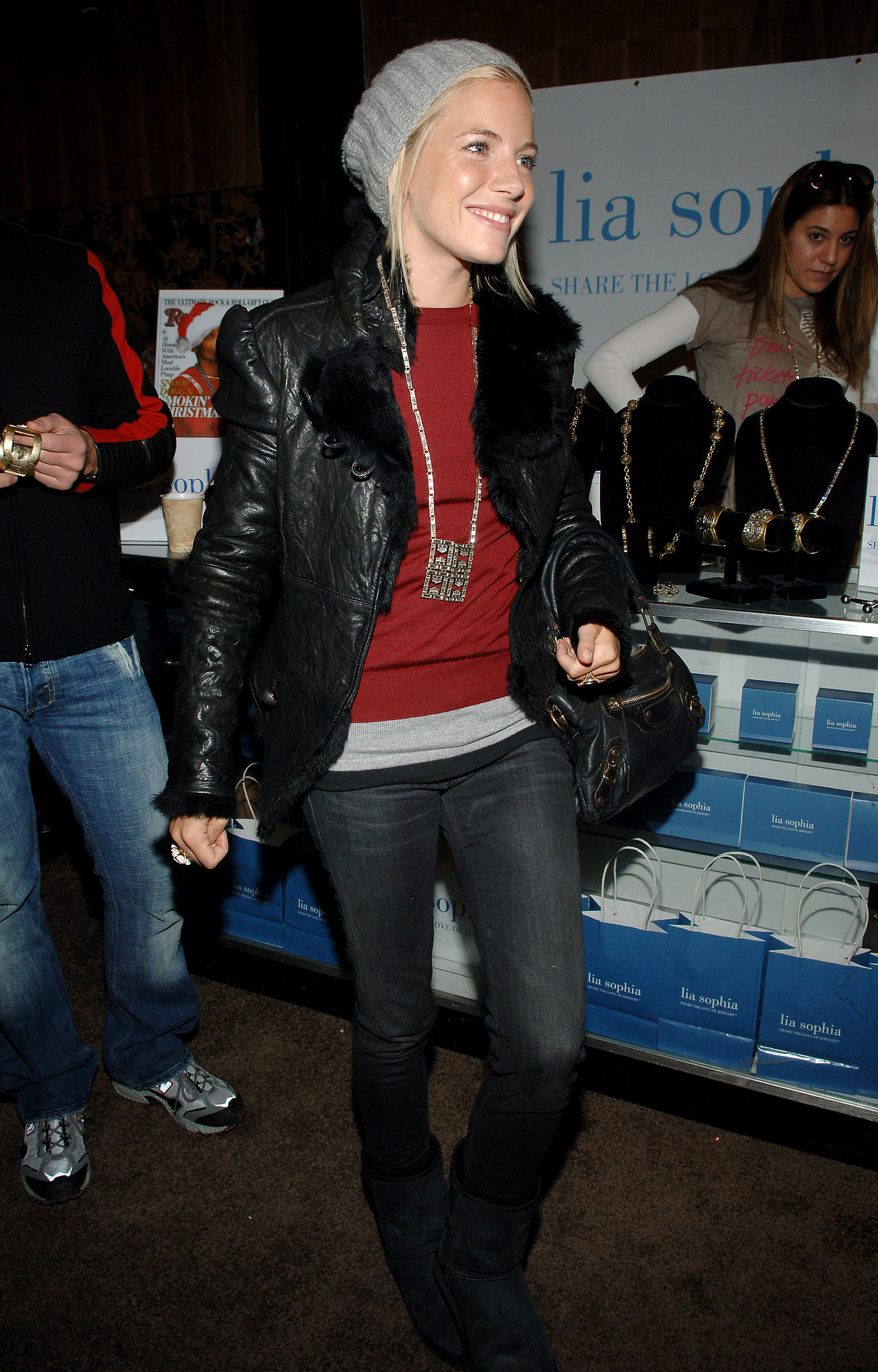 Sienna was bundled up and hanging in Park City in 2007.