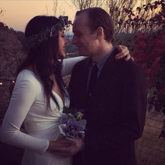 Vanessa Carlton embraced her new husband, John McCauley, after they exchanged vows and shared the moment on Twitter.  Source: Twitter user VanessaCarlton