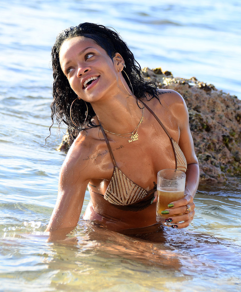 Rihanna and Her Bikini Are Living It Up in Barbados