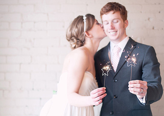 You gotta have sparklers, and star sparklers are even better! Stick them in cupcakes or ice cream for a glitzy dessert, or just pass them out to everyone at the end of the night. Photo by Paper Antler via 100 Layer Cake