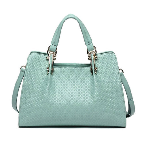 Image of [grxjy520221]Simple Design Embossed Check Print Sweet Elegant Shoulder Bag Tote