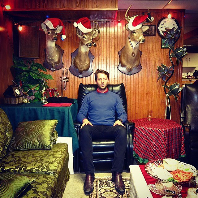 No ugly Christmas sweaters here! Source: Instagram user derekblasberg