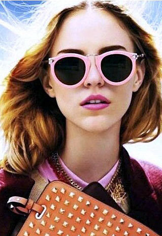 Image of [grzxy61500022]Retro Cute Candy Color Arrow Sunglasses
