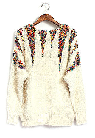 Street-chic Style Colorful Del Mohair Sweater