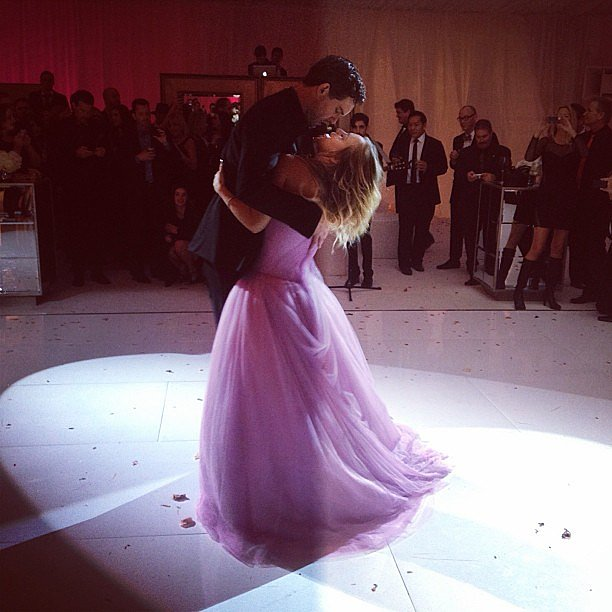 Kaley posted a snap of her dance with Ryan on Instagram.  Source: Instagram user normancook