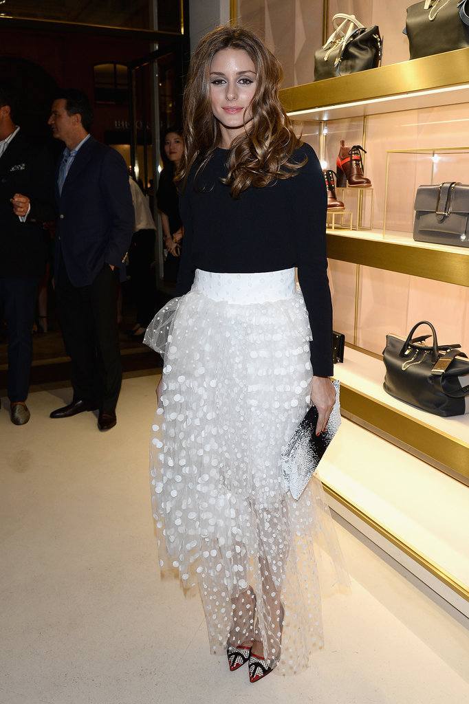 Will she pick volume over something sleek and minimalist? The frothy, light-as-air skirt she chose for a Paris fashion event has us thinking that might be the case.