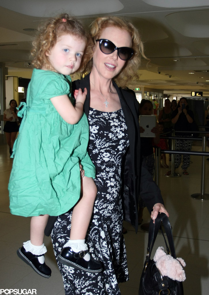 Nicole held Faith as they left Sydney, Australia.