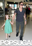 Keith held Sunday's hand as they walked through the airport.