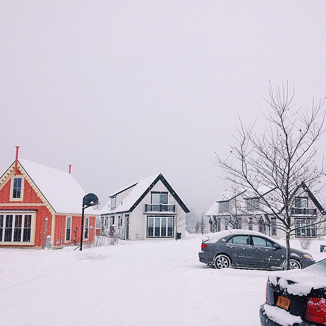 Upstate New York looked pretty darn picturesque under a blanket of snow.  Source: Instagram user boiceville_cottages