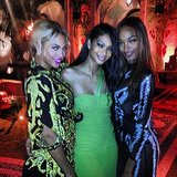 Chanel Iman shared this snap while ringing in the new year with Beyoncé and fellow model Jourdan Dunn. Source: Instagram user chaneliman