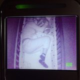 Alyssa Milano was caught sneaking into her son Milo's crib on the nursery monitor. Source: Instagram user milano_alyssa