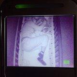 Alyssa Milano was caught sneaking into her son Milo's crib on the nursery monitor. Source: Instagram user milano_alyssa