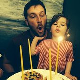 Harper Smith joined her dad in blowing out the candles on his birthday. Source: Instagram tathiessen