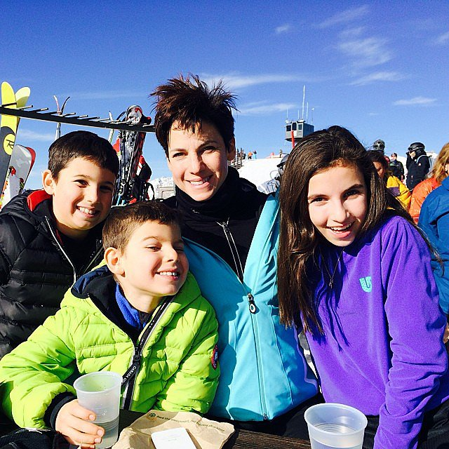 Jessica Seinfeld was surrounded by her kids atop a mountain on their Winter break. Source: Instagram user jessseinfeld