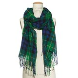 Madewell Green Plaid Scarf