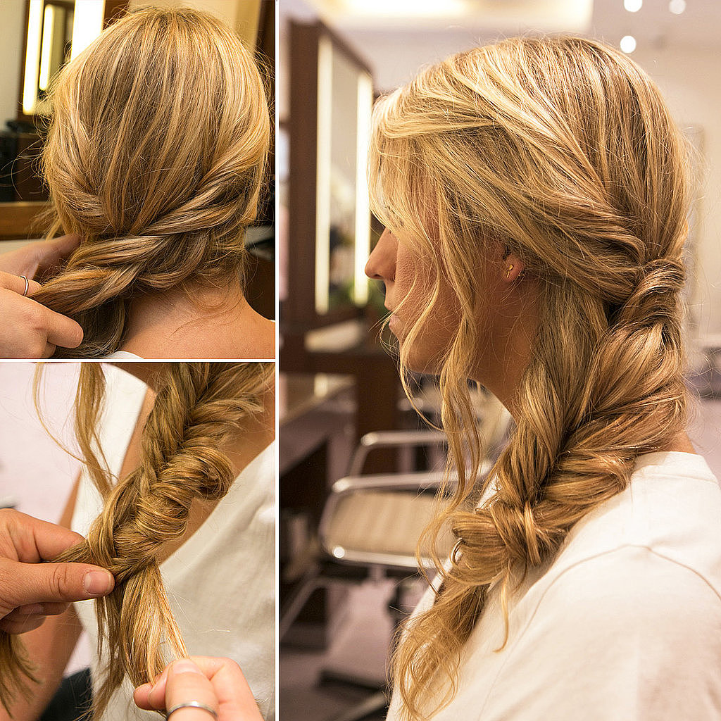 Braids are a must-try style year round, and even if you're not ambidextrous, you can learn this fishtail side braid.  Source: Caroline Voagen Nelson