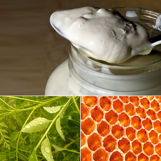 Yogurt plus honey — no, we're not listing breakfast ideas — are two powerful ingredients in this DIY face mask for acne-prone skin. Source: Flickr users Larry Jacobsen, Mayank Sharma, and Karunakar Rayker