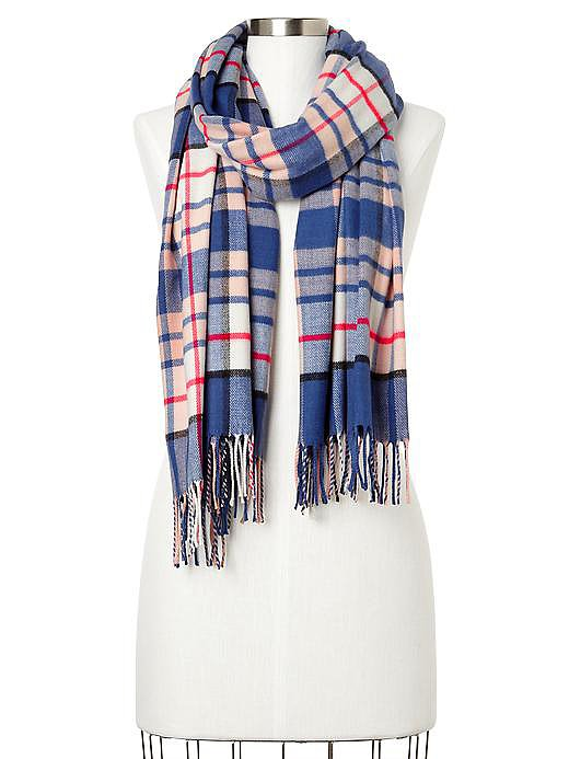 Gap Red, White, and Blue Plaid Scarf