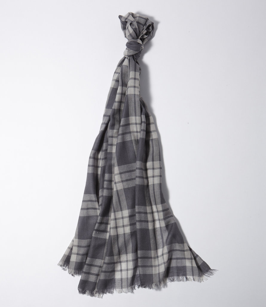 LL Bean Signature Gray Plaid Scarf