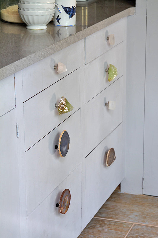 Diy drawer knob project popsugar home for Adding knobs to kitchen cabinets