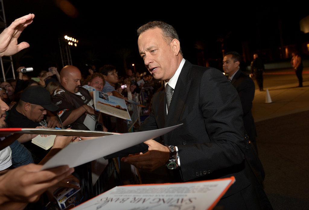 Tom Hanks greeted fans.