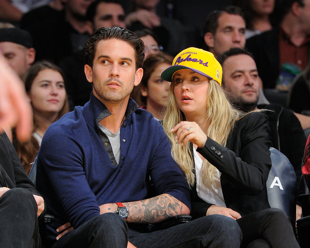 "Ryan Sweeting and Kaley Cuoco attended the game just a couple days after saying, ""I do,"" on New Year's Eve."