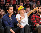 Kaley Cuoco was enthralled by the game.