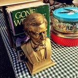 Picked up these Abe bookends at the swap meet.