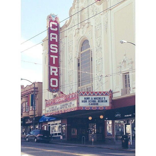"Romy and Michele's High School Reunion was playing at Castro theater. ""I hope your babies look like monkeys!"""