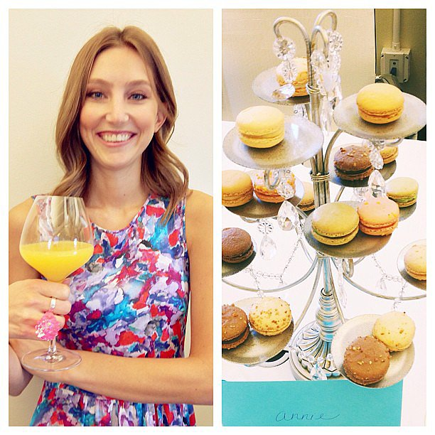 Macarons, mimosas, and a light-up ring for Annie.