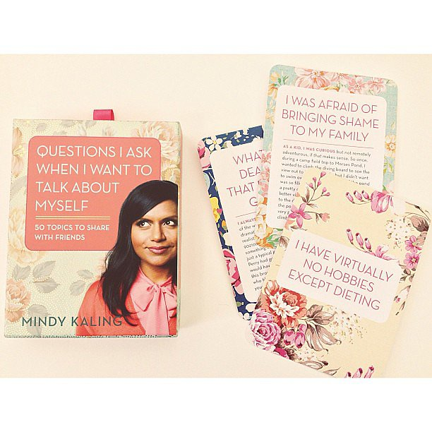 These are so cute! Mindy Kaling conversation starter cards.