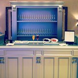The Champagne bar was a major crowd-pleaser at The One wedding event.
