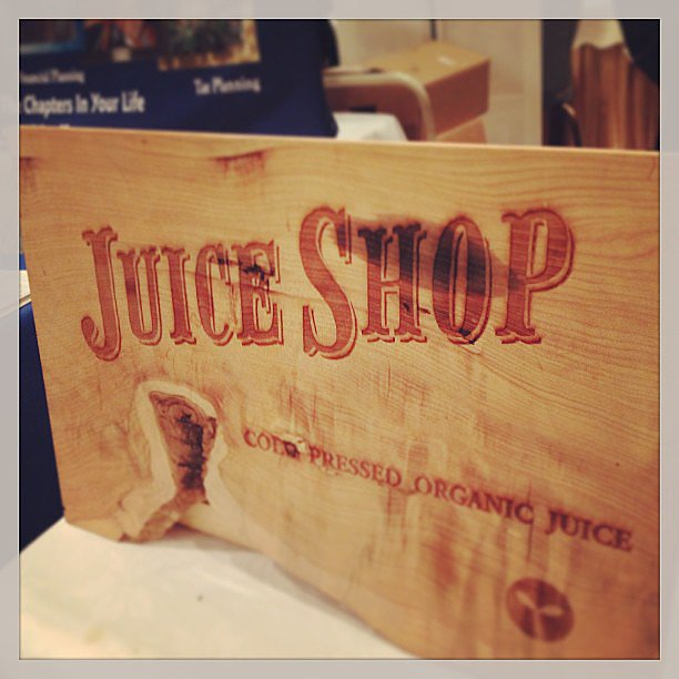 It wouldn't be a wedding fair without a juice cleanse.