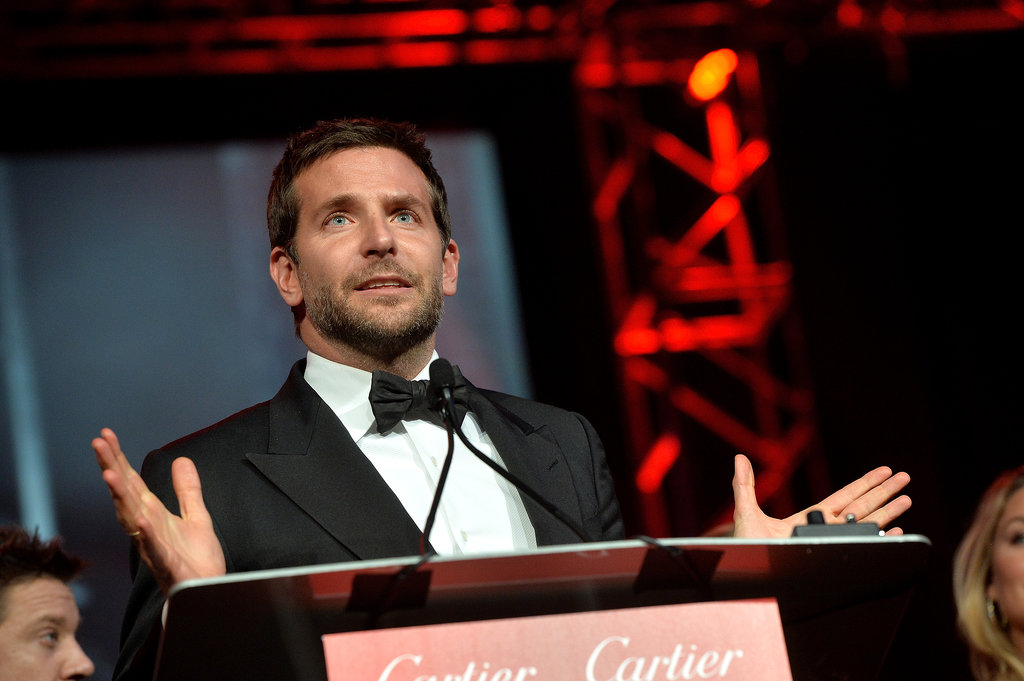 Bradley Cooper praised his American Hustle costars as he took the podium.