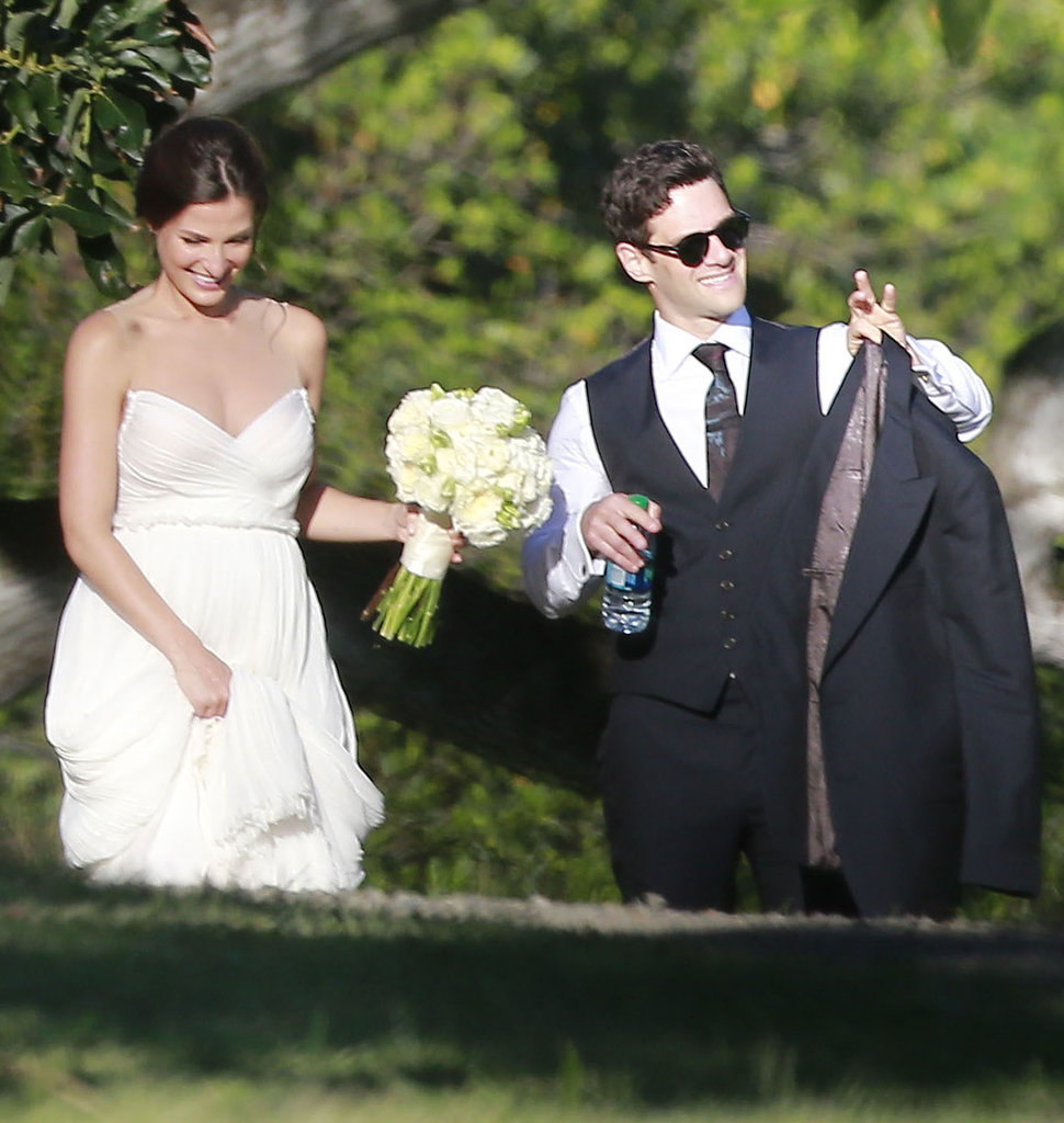 Lia and Justin were all smiles on their big day.