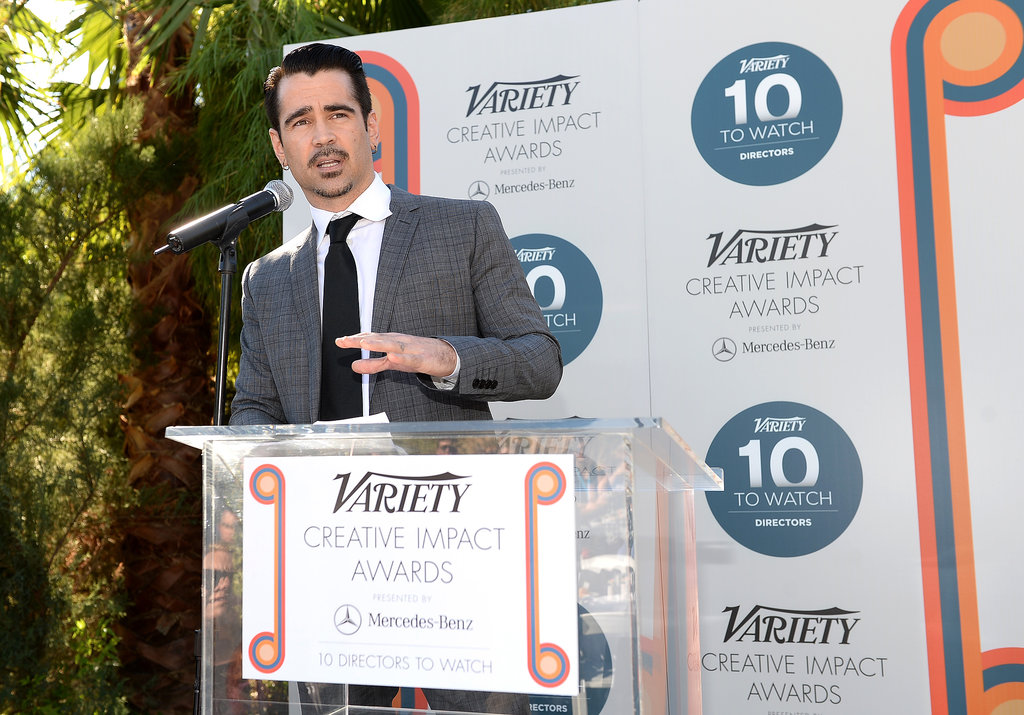 Colin spoke at the awards brunch.