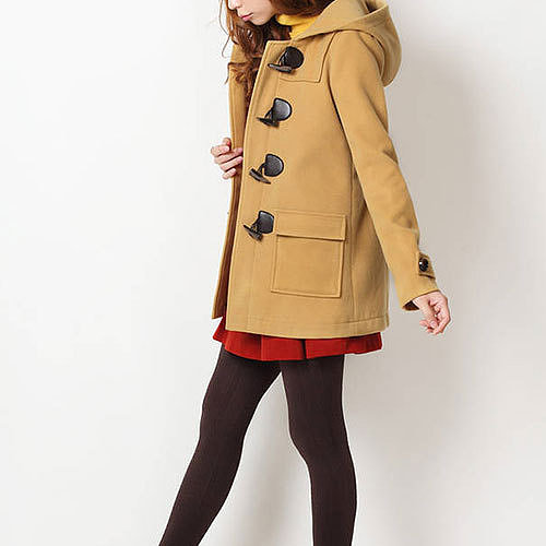 Sweet Candy Color Classic Toggle Button Duffle Coat Hooded Jacket