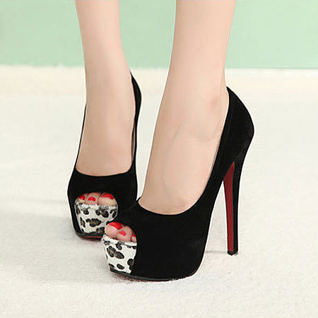 Image of [grxjy5190317]Sexy Nightclub Leopard Print Platform High Heel Shoes Stiletto Pumps