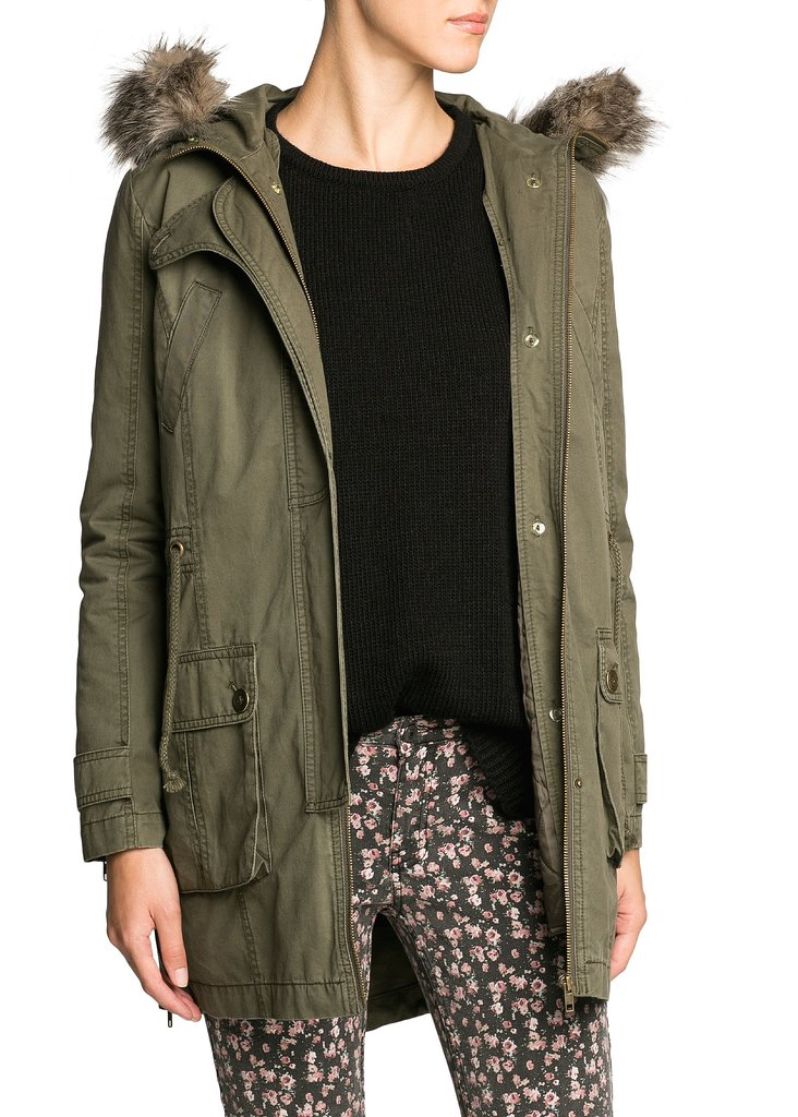 Mango Rhinestone Flag Parka ($90, originally $190)