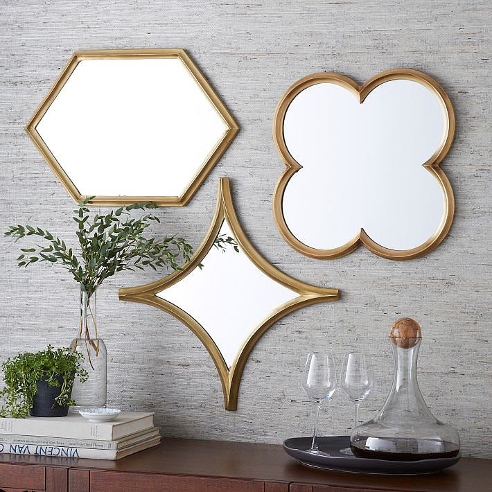 Hang these Monte Mirrors ($99 each) solo or in a group for extra impact.